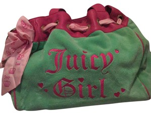 Juicy Couture pink and green Beach Bag