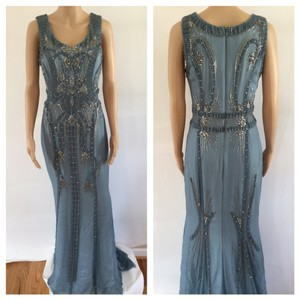 Carolina Herrera Silk Embellished Stunning Gown Dress
