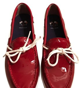 Cole Haan Boat Patent red Flats