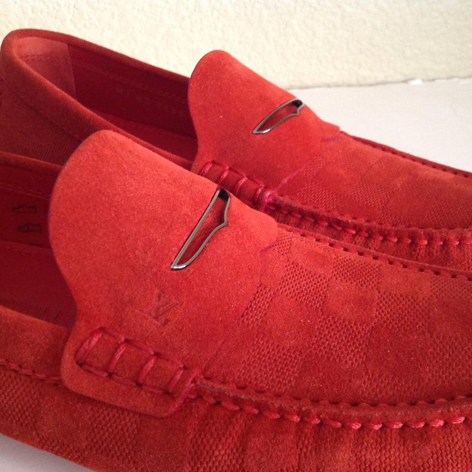 7fa11f26ac3f Louis Vuitton Shade Car Damier Loafer Driver Moccasin Mens Flats Size US 7  - Tradesy