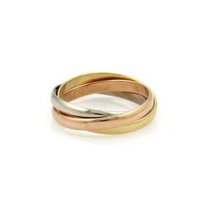 Cartier Trinity 18k Tricolor Gold 2.5mm Rolling Band Ring EU 56-US 8