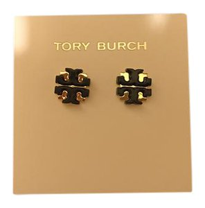 Tory Burch NWT Tory burch Black Enamel Large T Logo Stud earrings