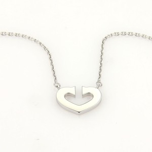 Cartier 18k White Gold C Hearts of Cartier Pendant & Chain Necklace