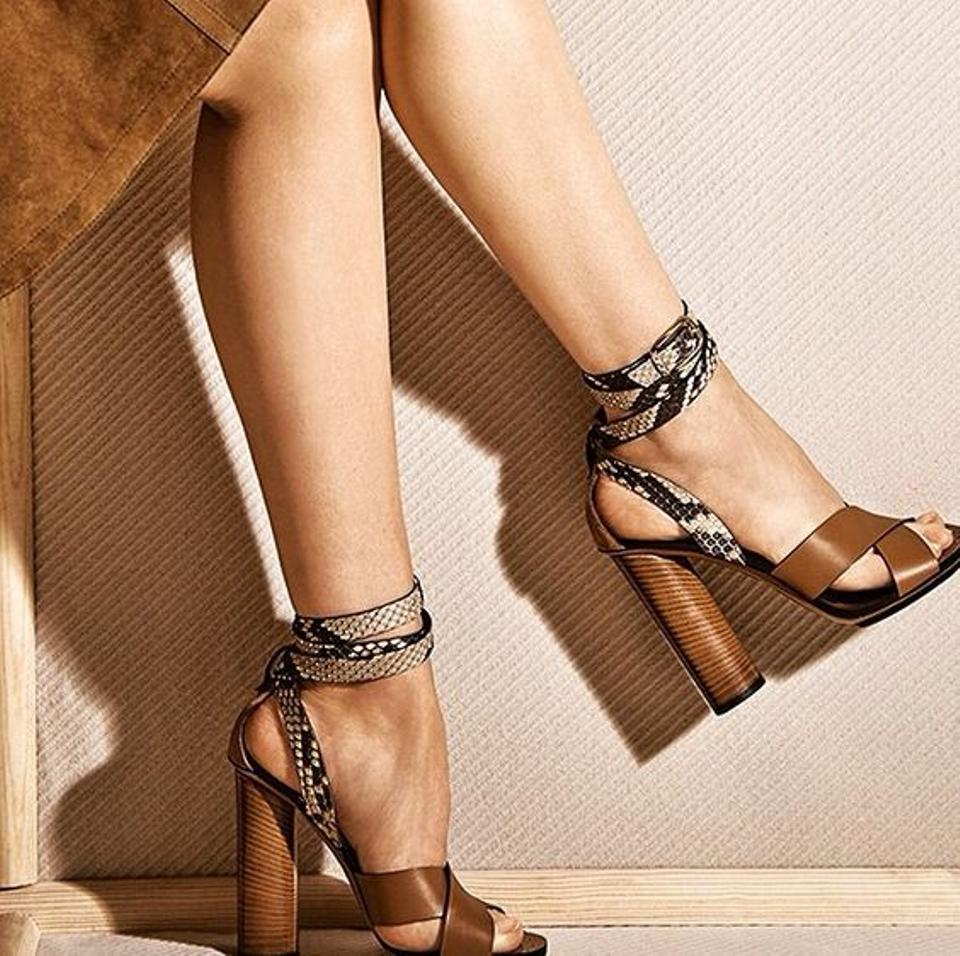 3012890f7f07 Gucci New Candy Python   Leather Ankle Strap Sandals Size US 8.5 Regular  (M