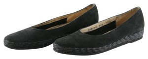 Salvatore Ferragamo Suede Leather Boutique Narrow black Flats