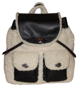 Coach Turnlock Tie Shearling 36484 Backpack