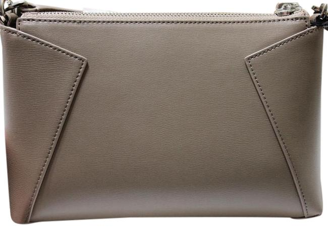 Item - Clutch Convertable Clutch/Crossbody Stone Smooth Leather Cross Body Bag