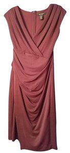 White House | Black Market Whbm Burgundy Surplice Dress