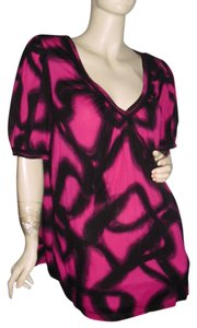 Michael Kors Top fuschia pink & black