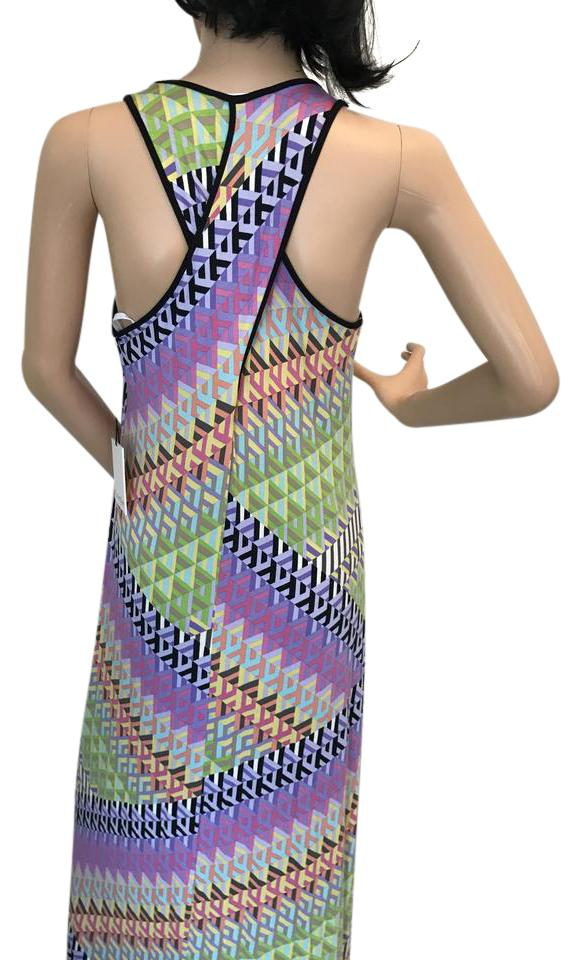Calvin Klein Multicolor Print Long Casual Maxi Dress Size 6 S