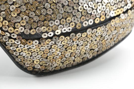 Alexander McQueen Sequin Leather black gold silver Platforms Image 7