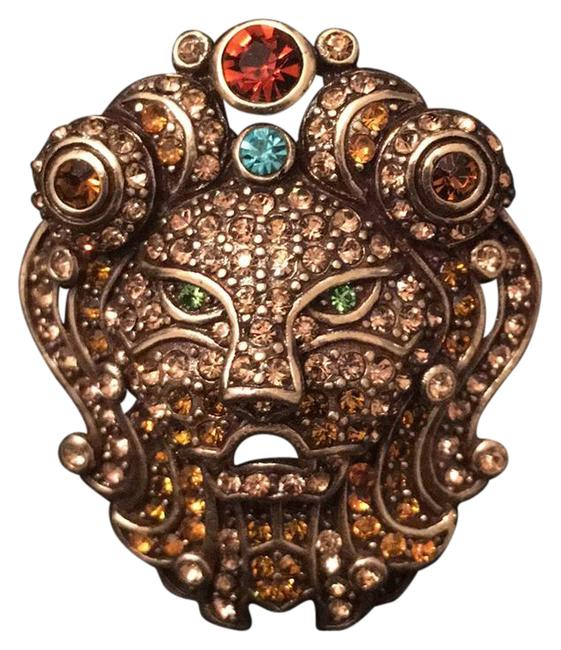 Item - Gold Lion Head Broach Pin