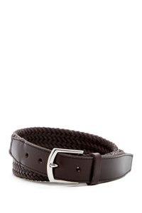 Cole Haan Cole Haan Men's 32mm Cotton and Leather Braided Strap Belt