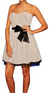 Lipsy Sequin Bow Prom Dress