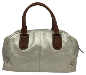 Marni Bowler Metallic Neutral Satchel in Beige