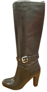 Rockport Tall Heel Buckle Dressy Black Boots