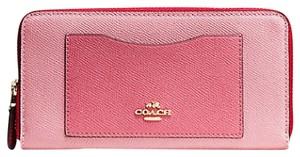 Coach COACH ACCORDION ZIP WALLET IN GEOMETRIC COLORBLOCK LEATHER 57605 NWT