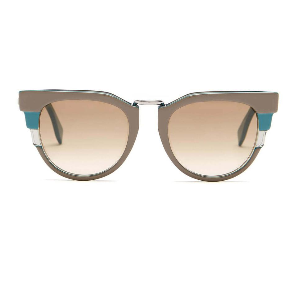 d4a6b2806170 Fendi Grey   Blue Women s Round Sunglasses - Tradesy