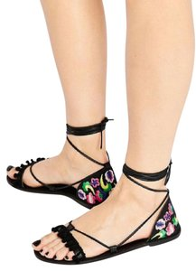 ASOS Flats Lace Up Leather Sandals