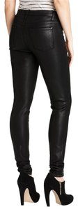 Sarah & George Nordstrom Medium Rise Hipster Stylish Shiny Coated Skinny Jeans-Coated