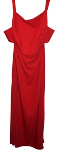 BCBGMAXAZRIA Maxi Pleated Formal Cut-out Dress