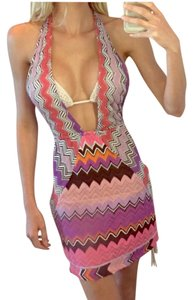 Missoni short dress pink on Tradesy