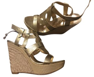 Guess Golden & rope wedge. Wedges