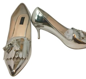 The Limited Silver Pumps