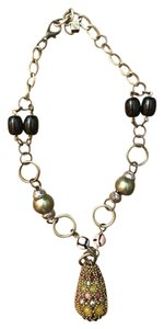 Anthropologie Pam Hiran for Anthropologie Teardrop Black Beaded Statement Necklace