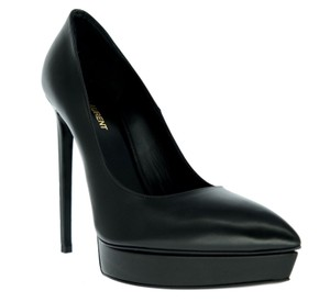 Saint Laurent Ysl Platforms Stiletto High Heels Black Pumps