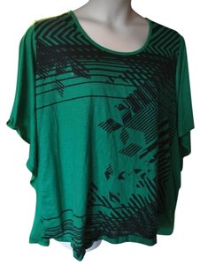 Catherines Casual Trendy Plus Size T Shirt green