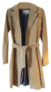 Wilsons Leather Pea Suede Belted Trench 8 Hippie Pea Coat
