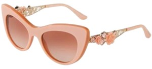 Dolce&Gabbana NWOT Dolce Gabbana Elegant Cat Eye Sunglasses with flower accents Spring 2017 Collection - Pink
