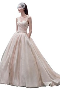 Vera Wang Bridal White By Vera Wang Taffeta Ballgown. Style Vw351233. Wedding Dress