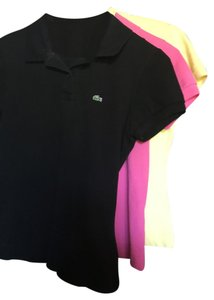 Lacoste Button Down Shirt Black, pink, yellow