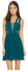 BCBGMAXAZRIA short dress dark teal on Tradesy
