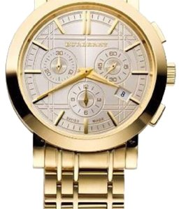 Burberry Burberry Men's BU1757 Heritage Gold-Plated Stainless Steel Gold Chronograph Dial Watch
