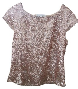 Jealous Tomato Sequins Short Sleeve Top copper