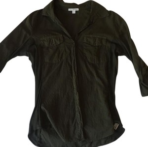 James Perse Button Down Shirt olive green