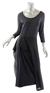 Gray and Black Maxi Dress by Crea Concept Modal Stretch Ruffle