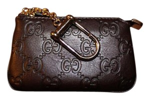 Gucci Gucci Coin Purse Signature Leather Key Case