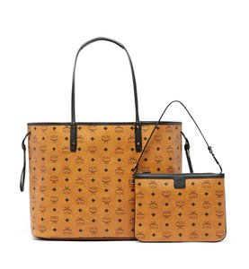 MCM Reversible Large Tote in Cognac