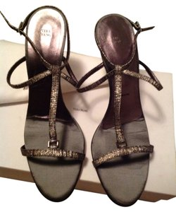 Vera Wang Strappy Sandals Classy Specialoccasion Wedding Silver Formal