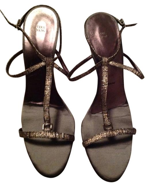 Vera Wang Silver Strappy Sandals Classy Specialoccasion Wedding Formal Shoes Size US 9.5 Vera Wang Silver Strappy Sandals Classy Specialoccasion Wedding Formal Shoes Size US 9.5 Image 1