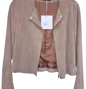 The Row Beige Leather Jacket