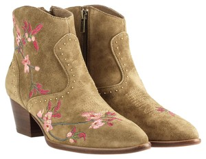 Ash Embroidered Floral Western Pointed Toe Boots