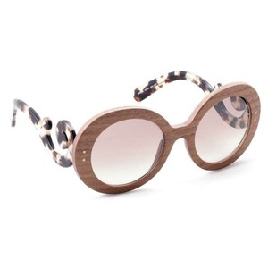 Prada NEW Prada Baroque SPR27R IAM4O0 Wood Nut Canaletto Brown Sunglasses