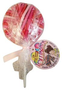Lollibands Lollibands 24 Colorful Elastic Hair Bands in Fun Pops, Pink