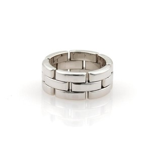 Cartier Maillon Panthere 18kt White Gold 8mm Wide Band Ring Size EU 53-US 6.5