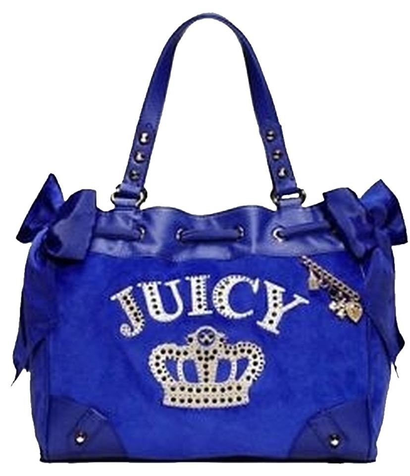 juicy couture royal velour crown daydreamer violet tote bag on sale 64 off totes on sale. Black Bedroom Furniture Sets. Home Design Ideas